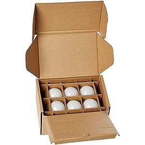 AmazonBasics 40 Watt Equivalent, Soft White, Dimmable, A19 LED Light Bulb   6-Pack
