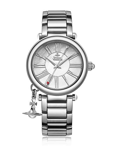 Vivienne Westwood Women's Quartz Watch with Mother of Pearl Dial Analogue Display and Silver Metal Bracelet VV006PSLSL