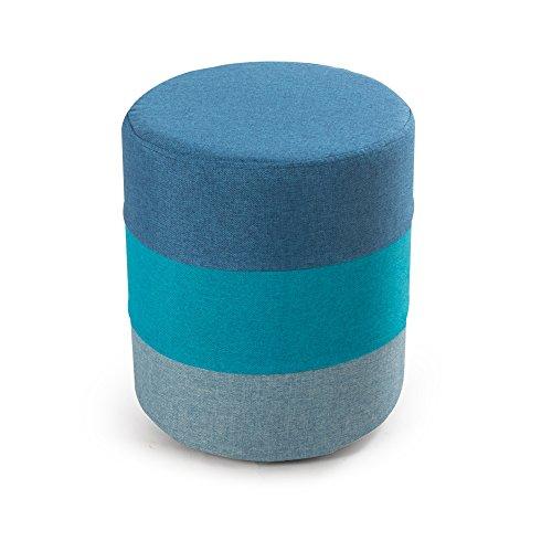 ZXQZ Repose-Pieds cylindrique créatif/Tabouret de Sofa de Tissu/changeant Son Tabouret de Chaussures/Petit Banc en Bois Rond Repose-Pieds de Stockage (Couleur : B)