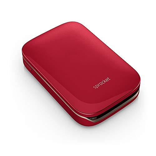 Tragbarer Fotodrucker, Mobiltelefon Bluetooth-Drucker/Mini Hause Kettenrad, Geeignet Für Fotodrucker Gedruckt Von HP Zink Fotopapier,Rot