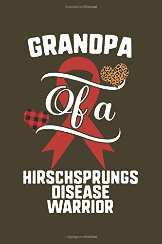 Grandpa Of A Hirschsprungs Disease Warrior: Hirschsprungs Disease Awareness Leopard Buffalo Plaid Family Gift