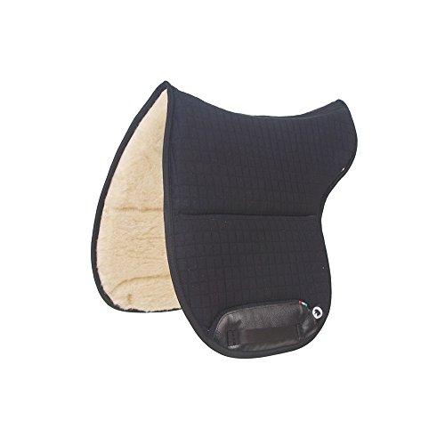 Burioni – Tapis de selle pour selle australienne en coton avec intérieur en pure laine australienne, rouge, -
