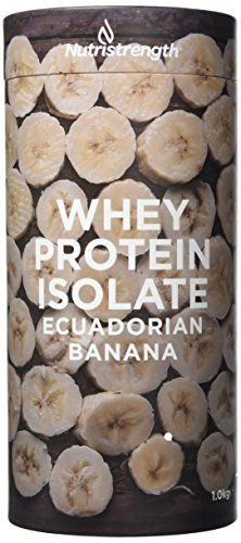 Vegetarian Protein Powder by Nutristrength | Whey Protein Isolate with Naturally Enhanced Flavour | Low Lactose & High Protein | Lean & Low Fat Nutritional Powder- Ecuadorian Banana [1kg}