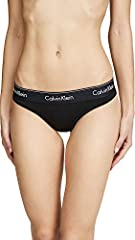 Wash cold Calvin Klein Underwear thong panties, detailed with logo lettering at the waistband. Lined gusset.