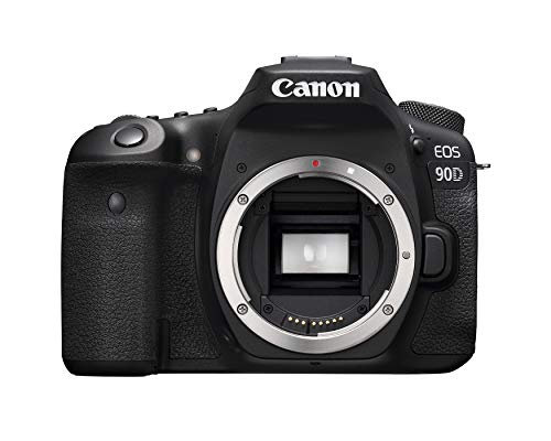 Canon DSLR Camera [EOS 90D] with Built-in Wi-Fi, Bluetooth, DIGIC 8 Image Processor, 4K Video, Dual Pixel CMOS AF, and 3.0 Inch Vari-Angle Touch LCD Screen, [Body Only], Black