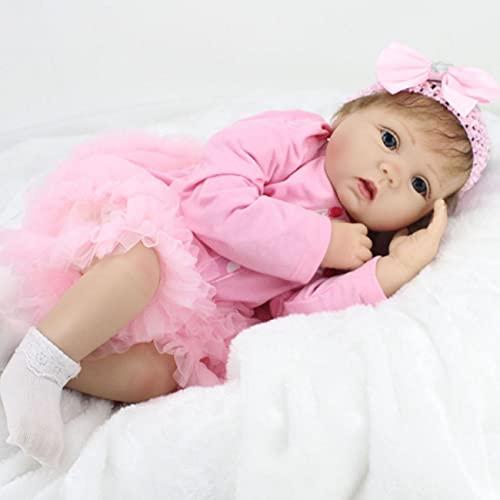 ZIYIUI Réaliste Poupée Reborn 22 Pouces 55cm Reborn Baby Dolls Silicone Vinyl Fait Main Bebe Reborn Fille Reborn Toddler bébé Nouveau-né bébé Jouets Cadeau