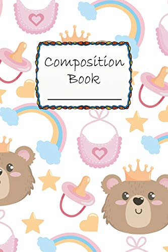 Composition Book: Cute Baby Bear Composition Book to write in - Wide Ruled - cute animals, prince or king.