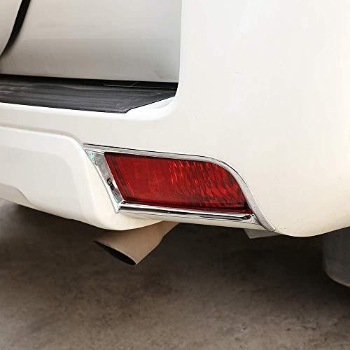 Topauto Top-Auto ABS Cromo plástico lámpara Trasera de Coche Marco decoración Adornos Accesorios Plata Brillante para Land Cruiser Prado FJ150 150 2010 – 2018