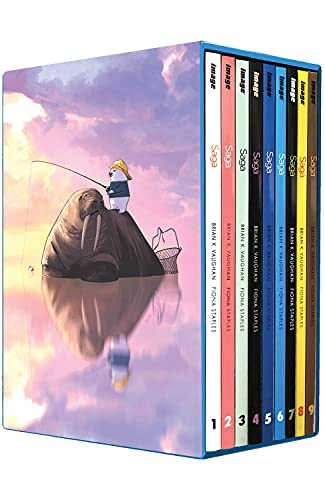 Compare Textbook Prices for Saga Box Set: Volumes 1-9 Saga, 1-9  ISBN 9781534321403 by Vaughan, Brian K,Staples, Fiona