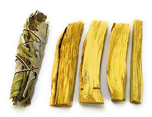 Palo Santo de Perú (50-55 gr) + 1 Manojo pequeño de Salvia Blanca con Yerba Santa (20-25 gr). Limpian y equilibran Las energías