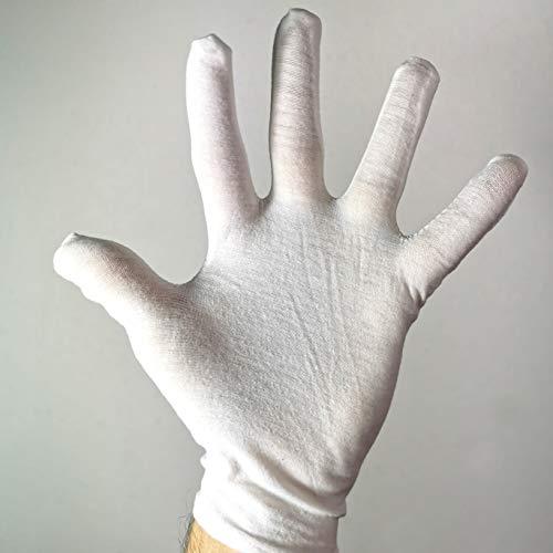 Katara 1623 Super Mario 1623-Ein Paar Handschuhe Unisex, OneSize für Verkleidung zu Weihnachten, Fasching, Karneval, Kostüm, 23 cm lang, Weiß, 22 cm