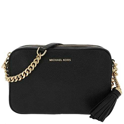 Inject a simplistic, contemporary aesthetic into your everyday wardrobe with the MICHAEL Michael Kors Ginny bag. Crafted from luxurious pebble effect leather, this bag features a chain and adjustable leather strap, tassel detail, gold-tone hardware, ...