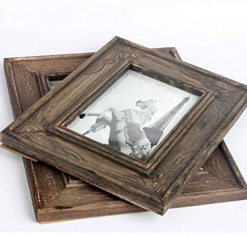 6, 7 inch Retro doen De Oude Houten Frame Swing Desktop Creatieve Home Decoratie Nachtkastje Photo Frame/Home Wanddecoratie Eén maat 7