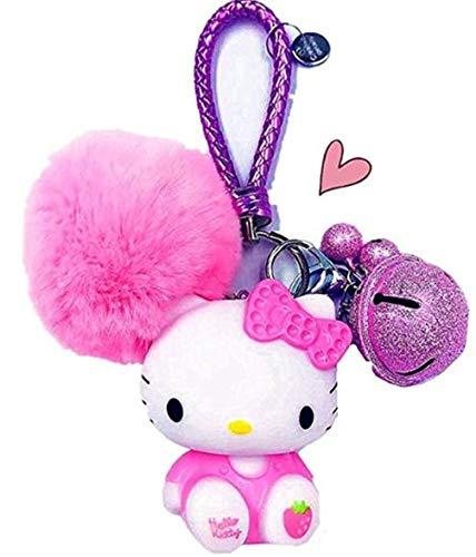 Hello Kitty Key Chain for Girls Women Hello Kitty Gifts | Hello Kitty Figures Sanrio Birthday Gift Bag Accessories (pink)