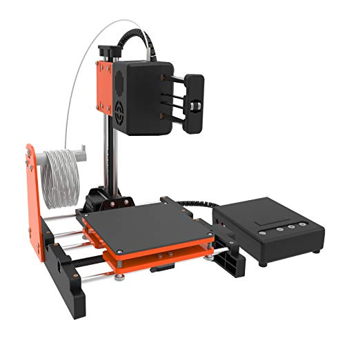 """TTLIFE Mini 3D Printer for Kids & Beginners, Small 3D Printer with Magnetic Plate, Fast Heating, Low Noise, Printing Size 4""""×4""""×4"""", Free 10m(L) 1.75mm(D) Testing Filament, Black&Orange"""
