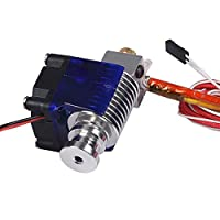 シンプルな 1.75mm / 3.0mmの直接フィラメントワード押出機0.3 / 0.4 / 0.5mmのための単一の冷却ファンが付いている3D V6 3DプリンターJ-ヘッドホット インストールや分解が簡単です (Size : 175 04)