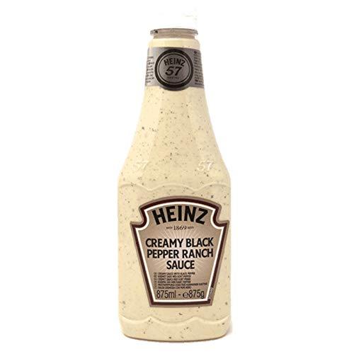 SALSA HEINZ CREAMY BLACK PEPPER RANCH SAUCE BOTTIGLIA 875ml...