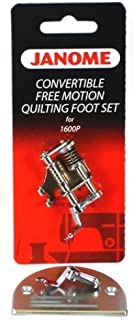 Janome Convertible Free M otion Quilting Foot Set for 1600P