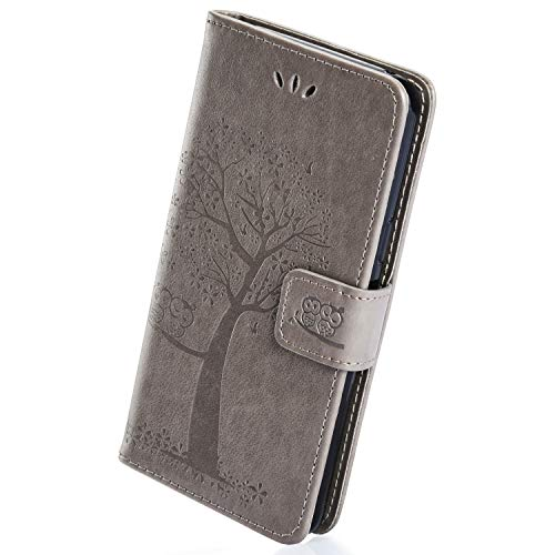 Affordable Herbests Compatible with Samsung Galaxy J6 2018 Wallet Flip Folio Case Embossed Owl Tree ...