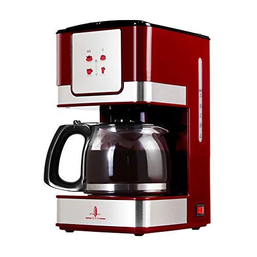 Macchina Per Caffè Americano ST-670 550 W Caffettiera Americano Espresso Macchina A Goccia Per Caffè Istantaneo Completamente Automatica Compresa Caffettiera In Vetro Rossa (600ml)