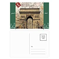 最高のパリ勝利のアーチ グッドラック・ポストカードセットのカードを郵送側20個