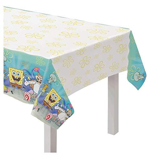 Amscan 572627 Party-Tischdecke Spongebob Schwammkopf, Papier, Mehrfarbig, 130 x 240 cm