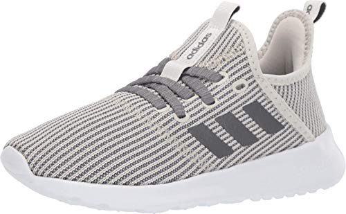 adidas Women's Cloudfoam Pure Running Shoe, Raw White/Night Metallic, 6.5 Medium US