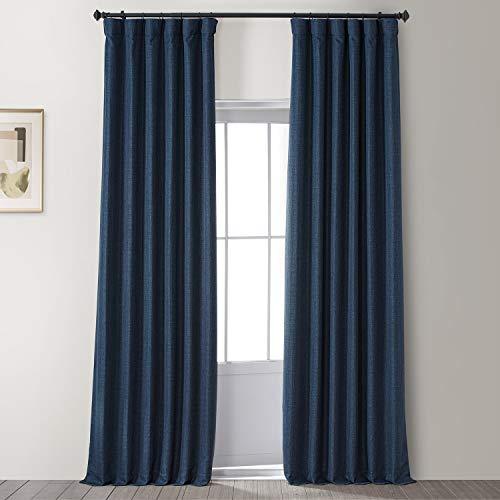 HPD HALF PRICE DRAPES FLCH-FMBO20106-96 Signature Faux Linen Blackout Curtain (1 Curtain), 50 X 96, Caravan Beige