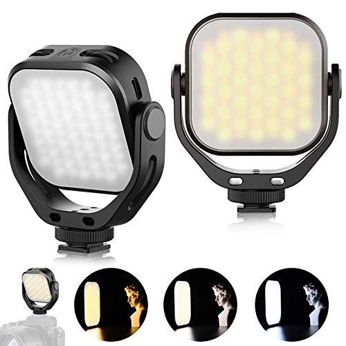 VL66 LED Video Light Température de Couleur Caméra Lumière de poche compacte rotative à 360 ° avec lumière douce Compatible avec Sony   DJI OM 4   All DSLR USB C Chargement