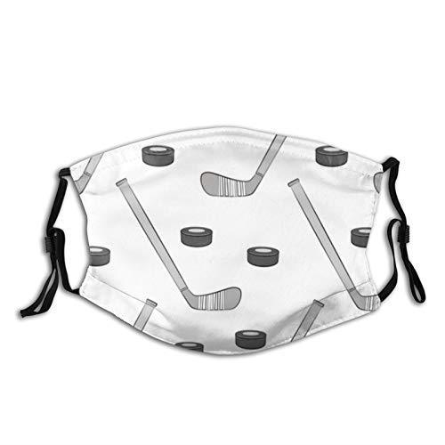Gedruckte Gesichtsmaske, Eishockey Unisex Outdoor Staubtuch Mundmaske Wiederverwendbare Sturmhaube mit 2 Filtern