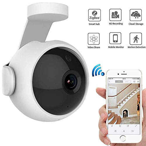 Mengen88 FHD WiFi IP Camera, 720P Home Veiligheid Monitoring met HD Night Vision en Motion Detection Ondersteuning Twee-weg Audio Cloud Opslag, voor kind/Huisdier/Oudere