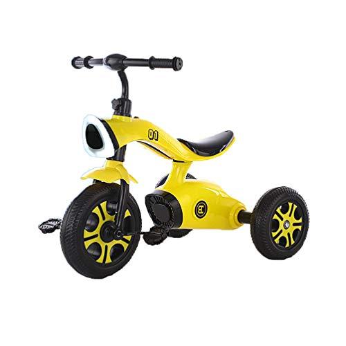 Triciclo para niños con rueda trasera desmontable, triciclos deportivos para niños, autos de pedales con altavoces de música, scooters para niños de 3-6 años