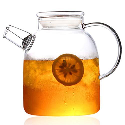 1000ml/1600ml glas waterkruik waterkruik hittebestendige theepotten met transparant deksel geweldig voor zelfgemaakte sap & ijsthee of voor glazen melkflessen