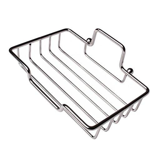 Sharplace Douche Porte-savon Porte-boîte En Acier Inoxydable Rapide Drainage Auto-adhésif