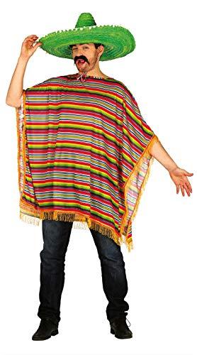 Guirca 88302 - Poncho Mexicano Adulto Talla L 52-54