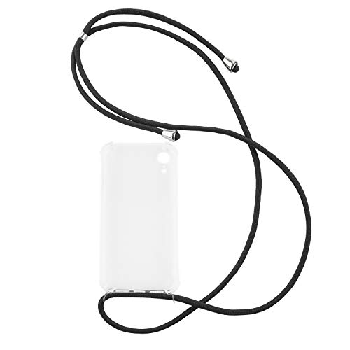 tradespeople Handykette geeignet für Apple iPhone XR | Smartphone Necklace Hülle mit Band | Schnur Kordel mit Case zum Umhängen | schwarz