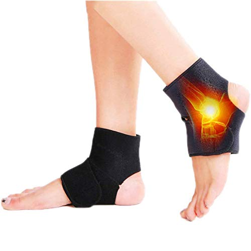 GHSY Self-Heating Ankle Strap, Adjustable Self-Heating Magnet Ankle Support Brace, Self-Heating Magnetic Therapy Ankle Brace Compression Straps for Pain Relief