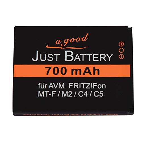 JuBaTec 700 mAh original Akku für AVMFritz!Fon MT-F / M2 / C4 / C5 / 312BAT006