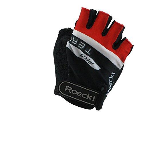 Roeckl guantes de ciclismo MTB verano corto del dedo Negro Blanco Rojo...