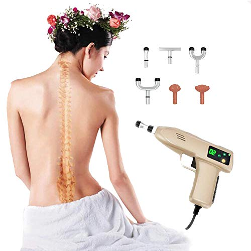 Why Choose FTNJG 780N Spine Chiropractic Adjusting Tool Electric Magnetic Therapy Massage Gun with 6 Repaceable Massage Heads for Adjust Vertebration and Thoracic Scoliosis