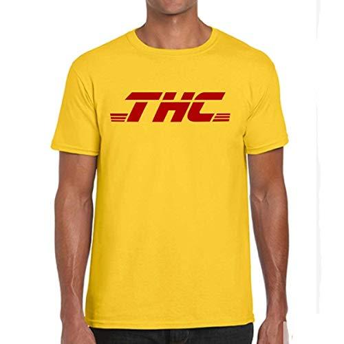 T-Shirt THC Corriere Espresso, Maglietta Divertente, Marijuana, Cannabis