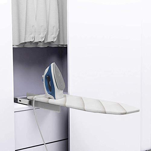 Nisorpa Tabla de planchar plegable extraíble, 37.8 x 12.2 x 3.5 pulgadas, giratoria 180°, mesa de planchar retráctil con cubierta resistente al calor para ahorrar espacio.
