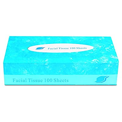 GEN FACIAL30100 Boxed Facial Tissue, 2-Ply, White, 100 Sheets per Box (Case of 30)