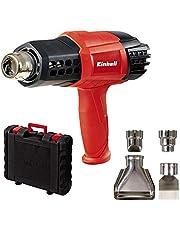 Einhell Verfafbrander TE-HA 2000 E (2.000 W, 9 temperatuurinstellingen 50-550°, luchtvolumeschakelaar, koude stand, incl. uitgebreide nozzle-accessoires & koffer), zwart, rood, zilver