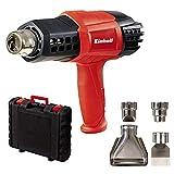 Einhell TE-HA 2000 E - Pack con decapador, 4 boquillas y maletín, interruptor de 3 posiciones, 2000 W, 220-240 V, color rojo y negro