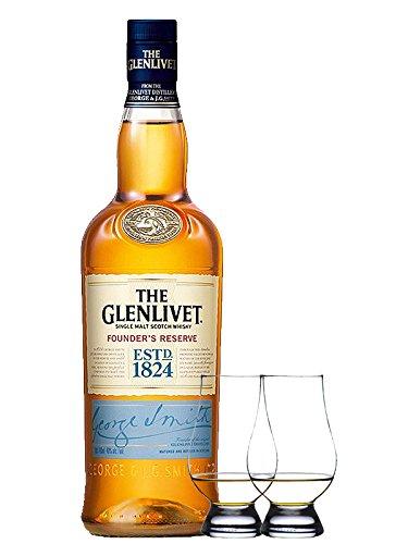 Glenlivet Founders Reserve Single Malt Whisky 0,7 Liter + 2 Glencairn Gläser