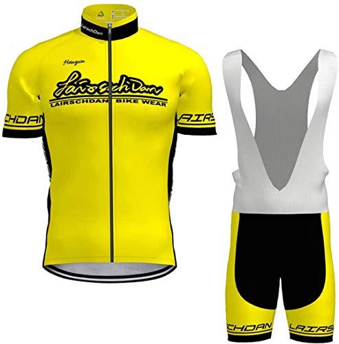 Maillot Ciclismo Corto De Verano para Hombre, Ropa Culote Conjunto Traje Culotte Deportivo con 9D Almohadilla De Gel para Bicicleta MTB Ciclista Bici