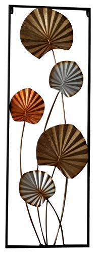 khevga Cuadro de metal 3D, diseño de flores, 85 x 30 cm