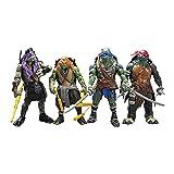 TFP Figuras de Acción 4PCS Adolescentes Mutantes Ninja Tortugas Modelo De Personaje De Acción PVC Adornos Decorativos Juguete Coleccionable OneSize