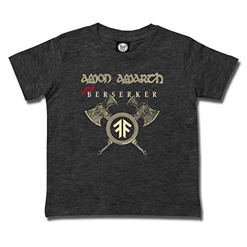 Amon Amarth (Little Berserker) - Kids T-Shirt Farbkombination anthrazit - Elfenbein/rot, Größe 104